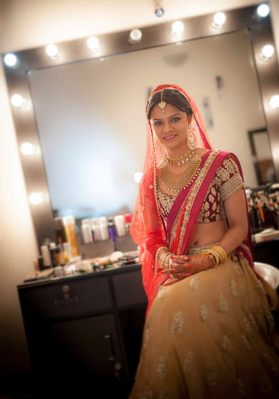 Best Wedding Photographer Hyderabad India | Punjabi Bride Portrait Photography Taj Hyderabad