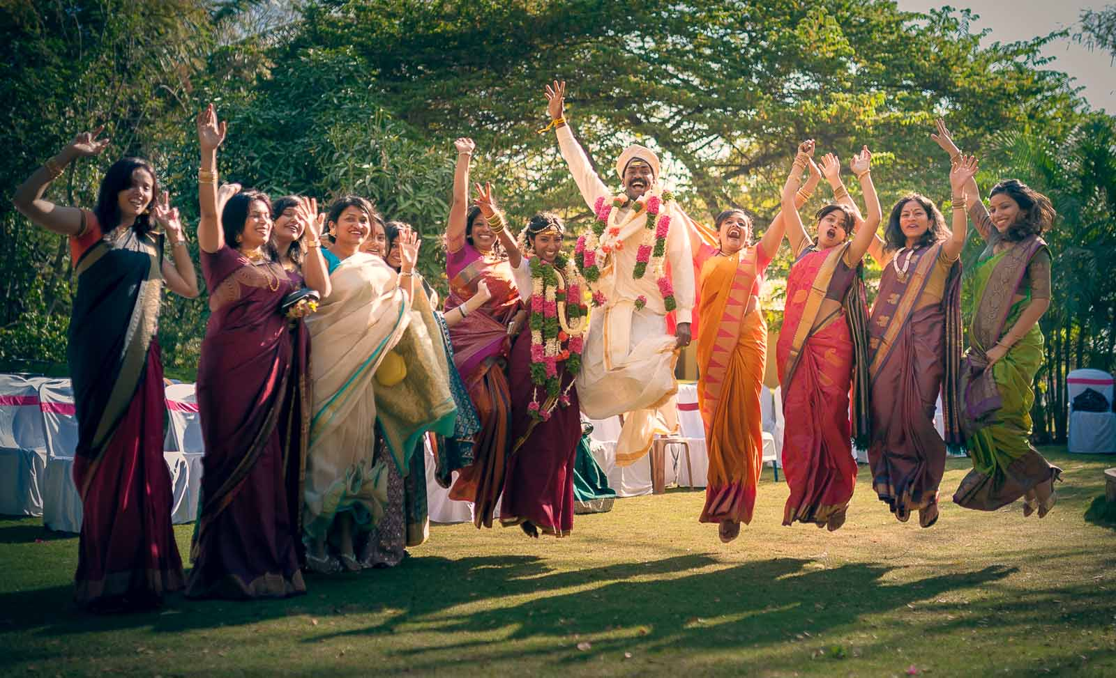 Best Wedding Photographer India | Group Jump Photography Bangalore