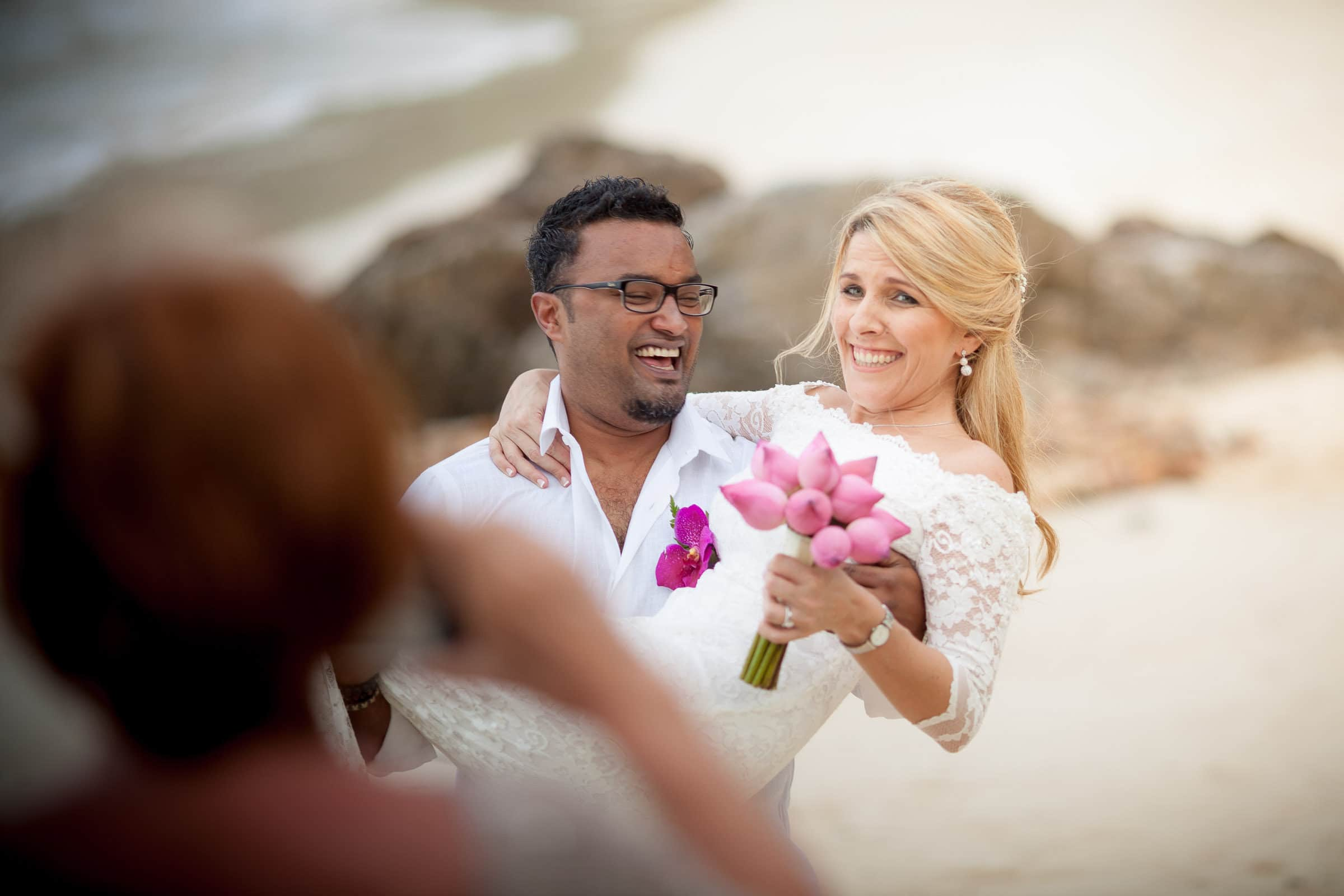 Wedding photographer shoot of couple in thailand