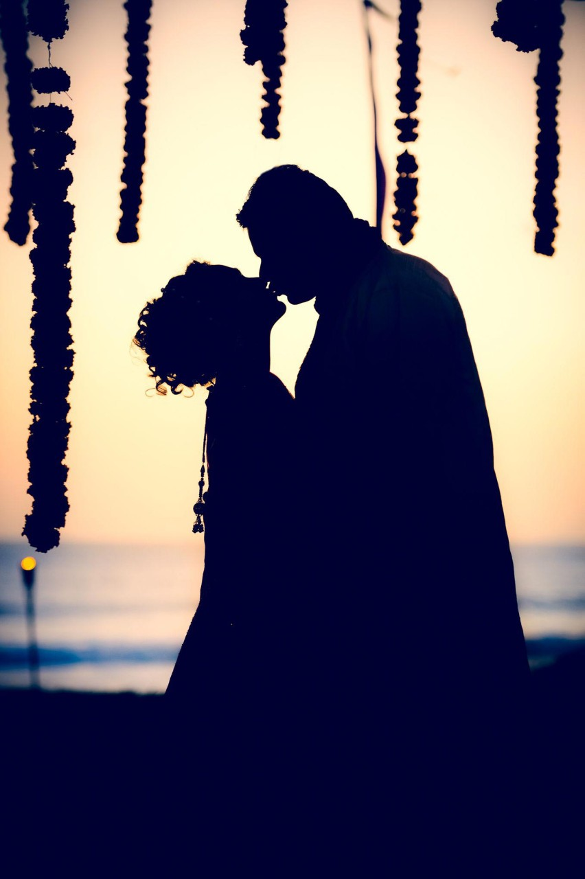 Best Wedding Photographer Bali | Beach Wedding Sunset Photography Silhouette Bali