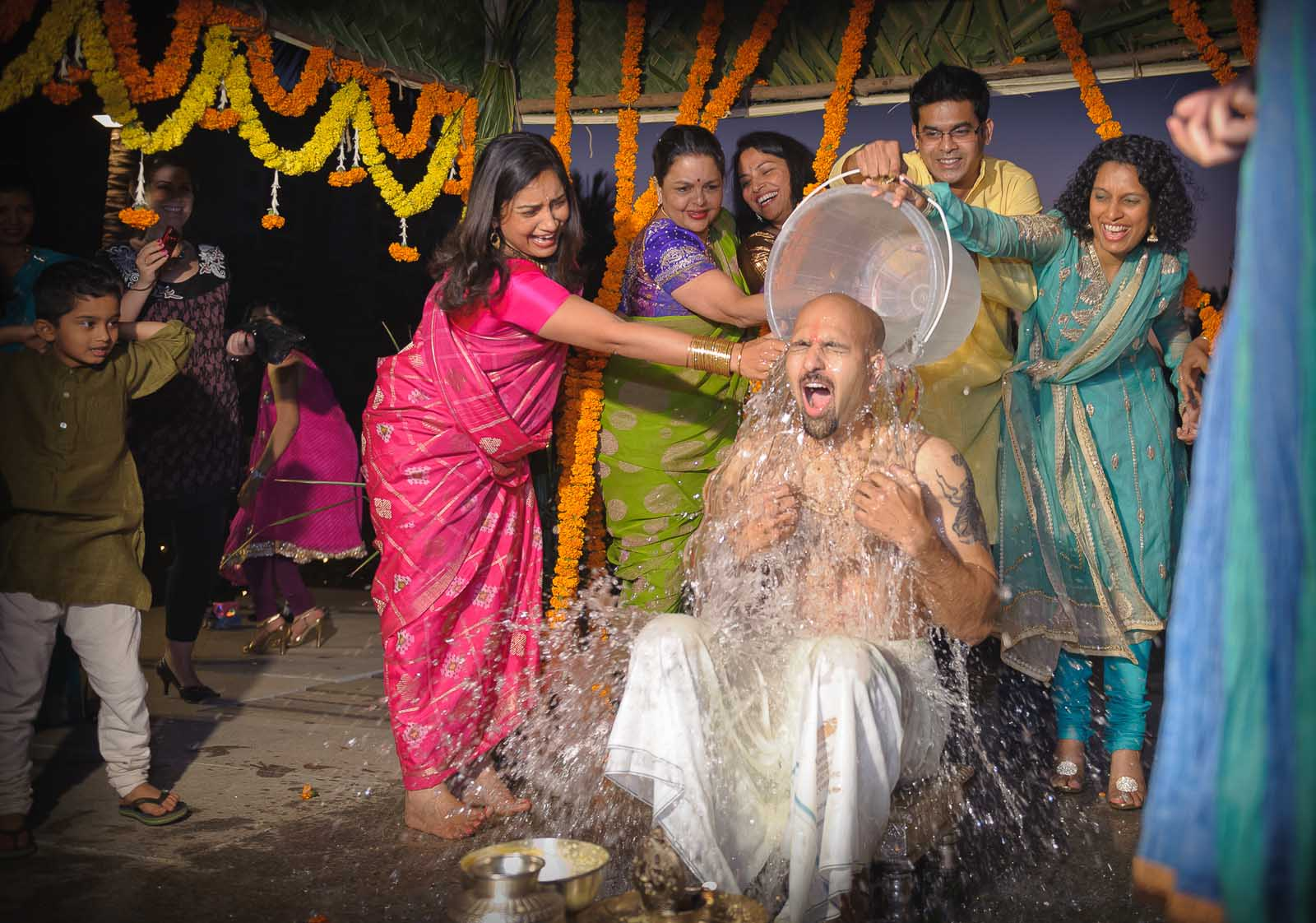 candid-wedding-photography-bunt-ceremony-ice-bucket-bangalore
