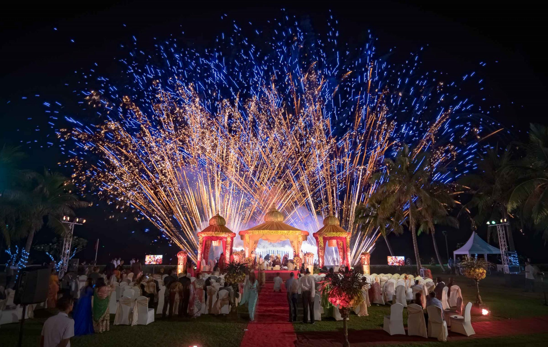 Top Wedding Photographer Phuket | Beach Wedding Photography Thailand | Fireworks in Beach Wedding