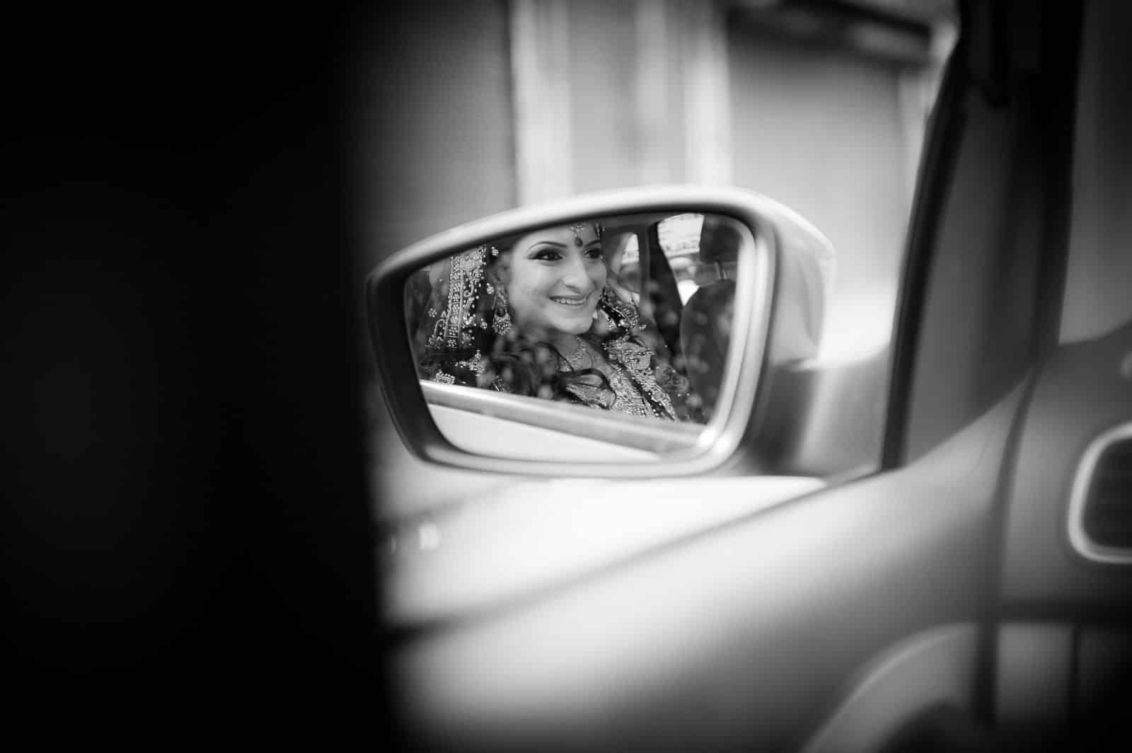 top-wedding-photographer-kerala-bride-reflection-car-mirror