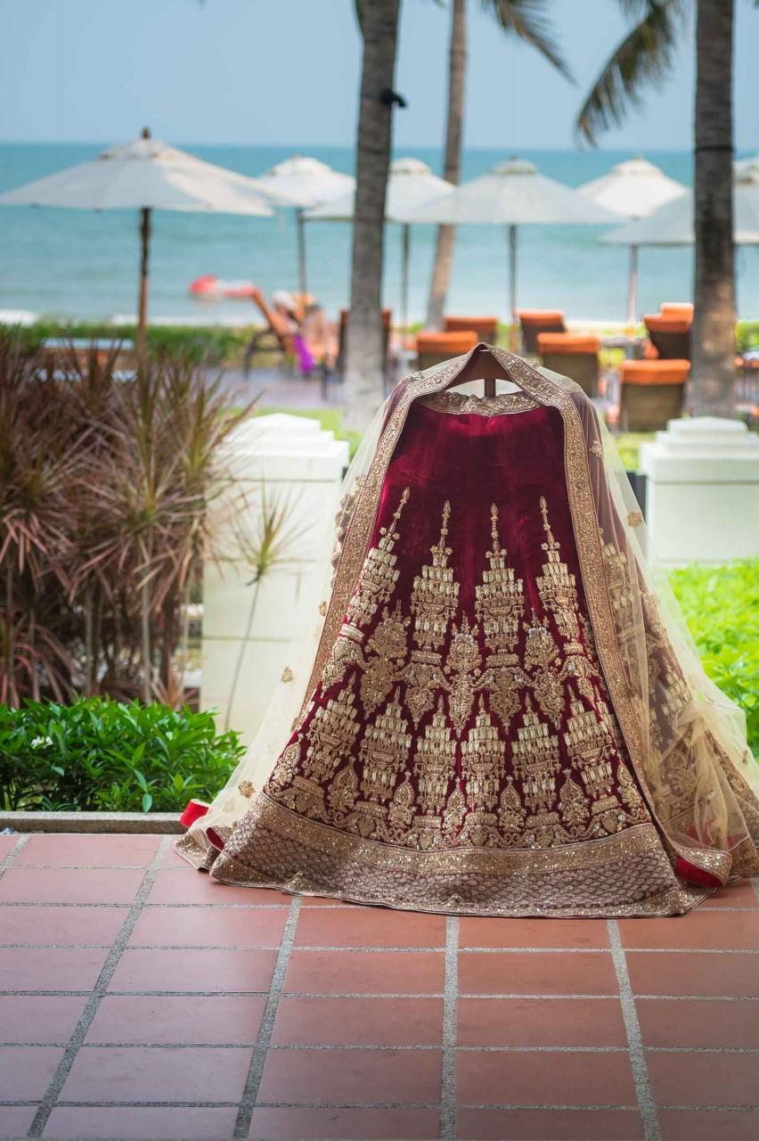 Destination Wedding Photographer Thailand   Pre Wedding Photography Sheraton Lehenda Sabyasachi Maroon