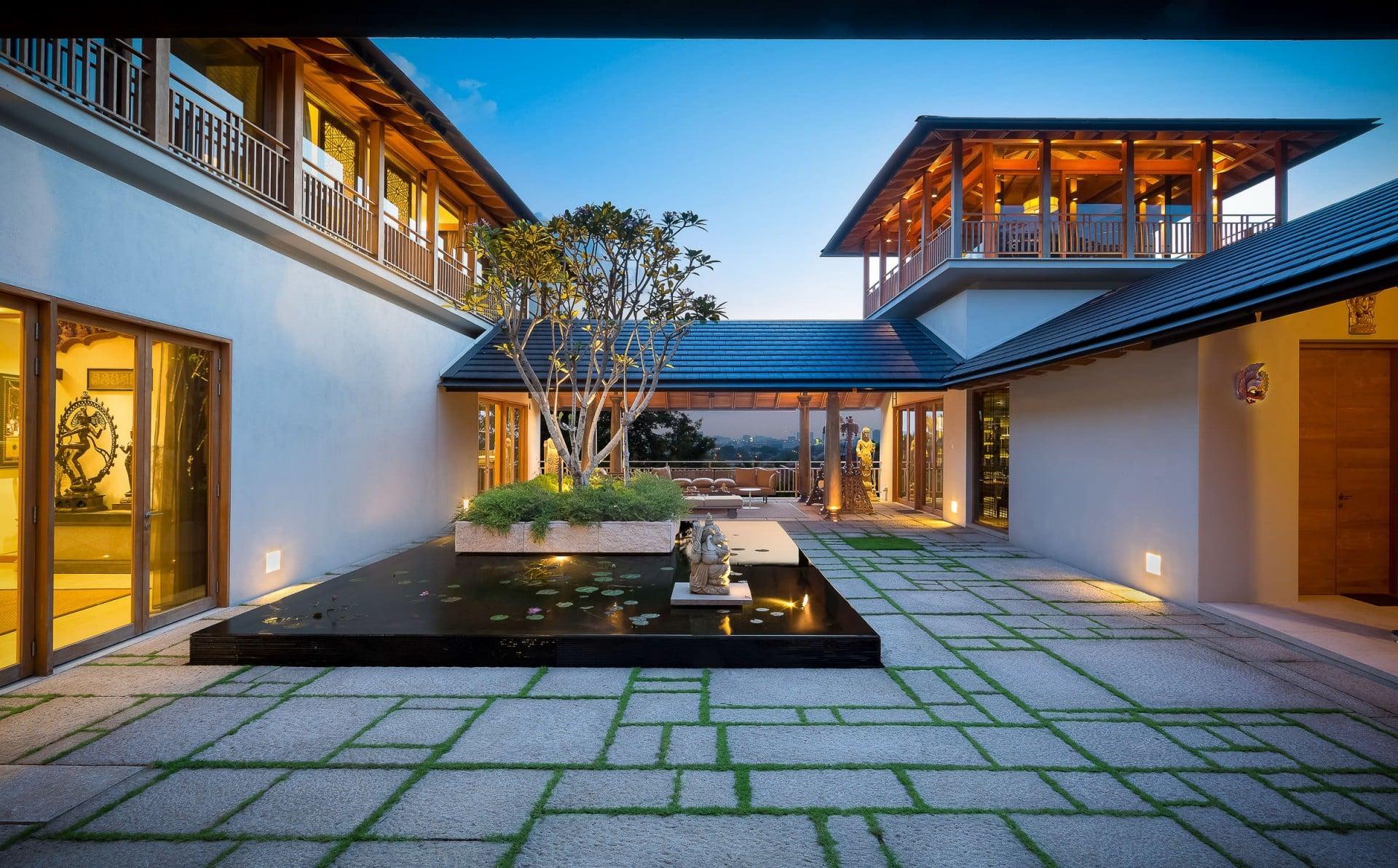 Best Architecture Photographer Kuala Lumpur | Luxury Home Courtyard Photography Malaysia