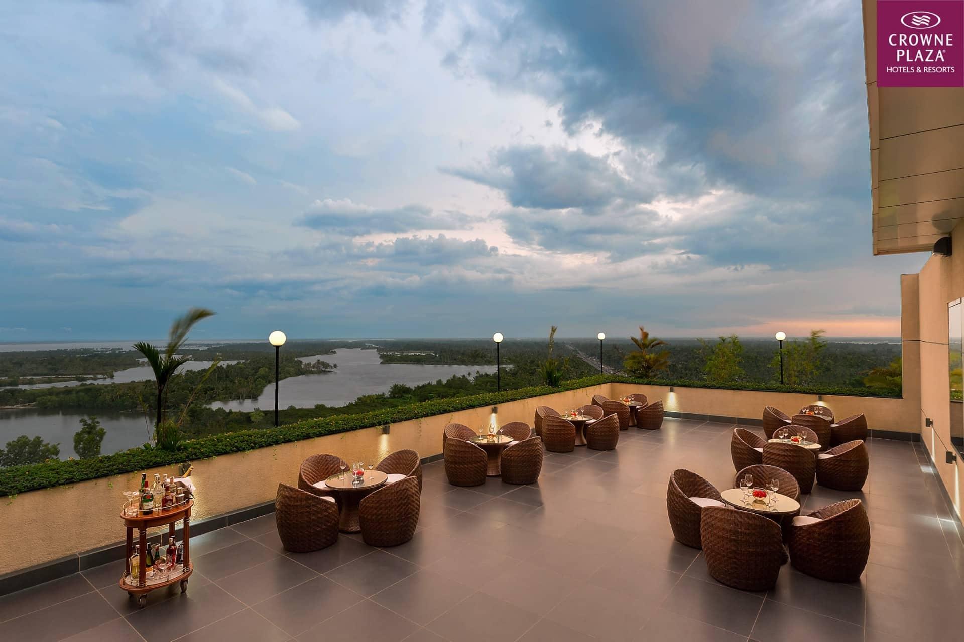 Best Architecture Photographer Delhi India   Crowne Plaza Lounge Backwater Sunset Photography Kochi