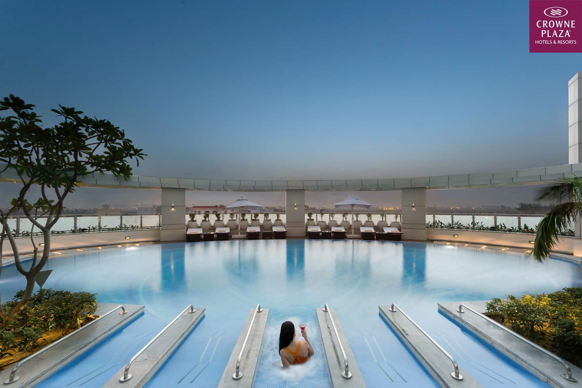 Best Architecture Photographer New Delhi   Crowne Plaza Noida Swimming Pool Photography