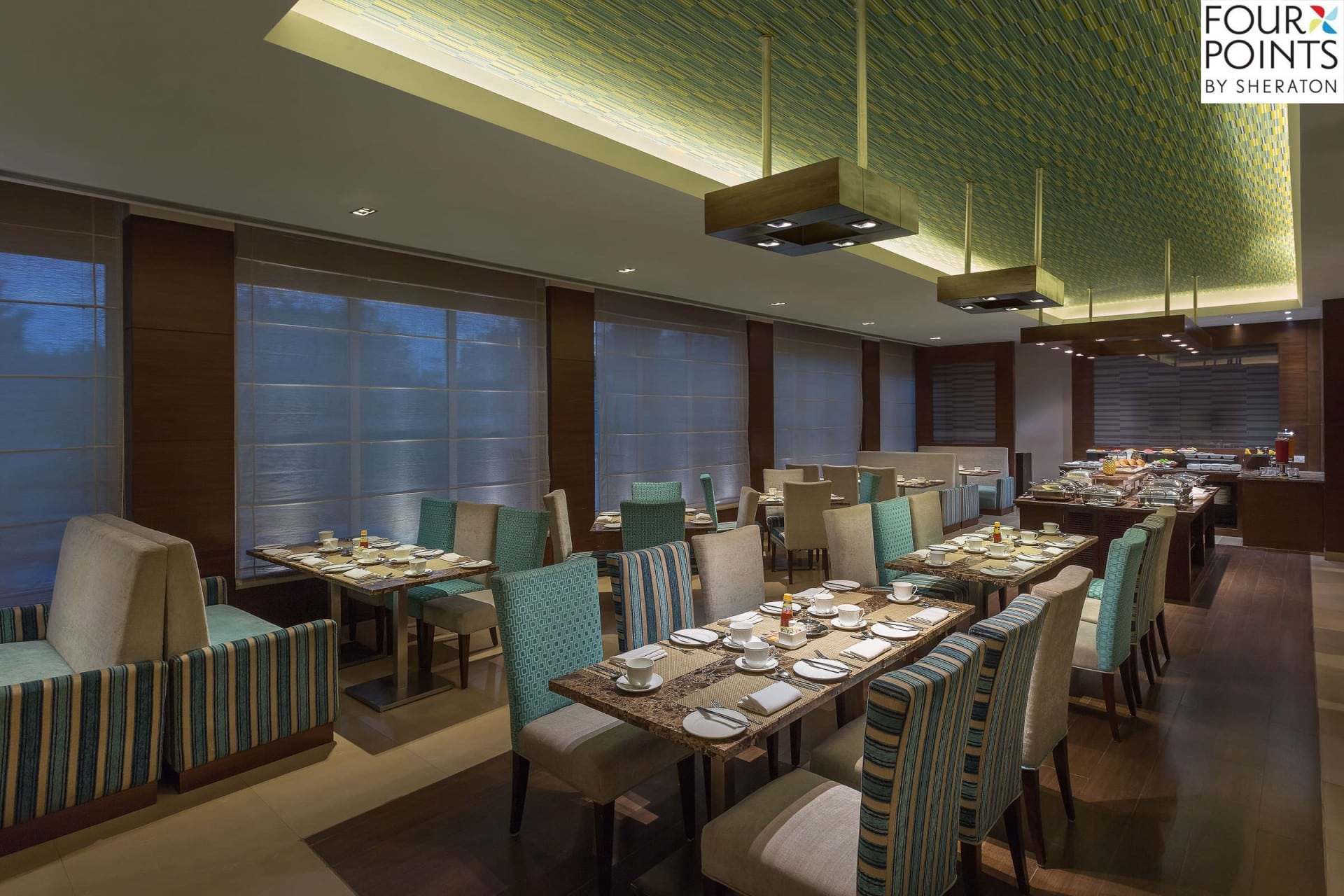 Best Architecture Photographer India   Four Points by Sheraton Vadodara Restaurant Photography
