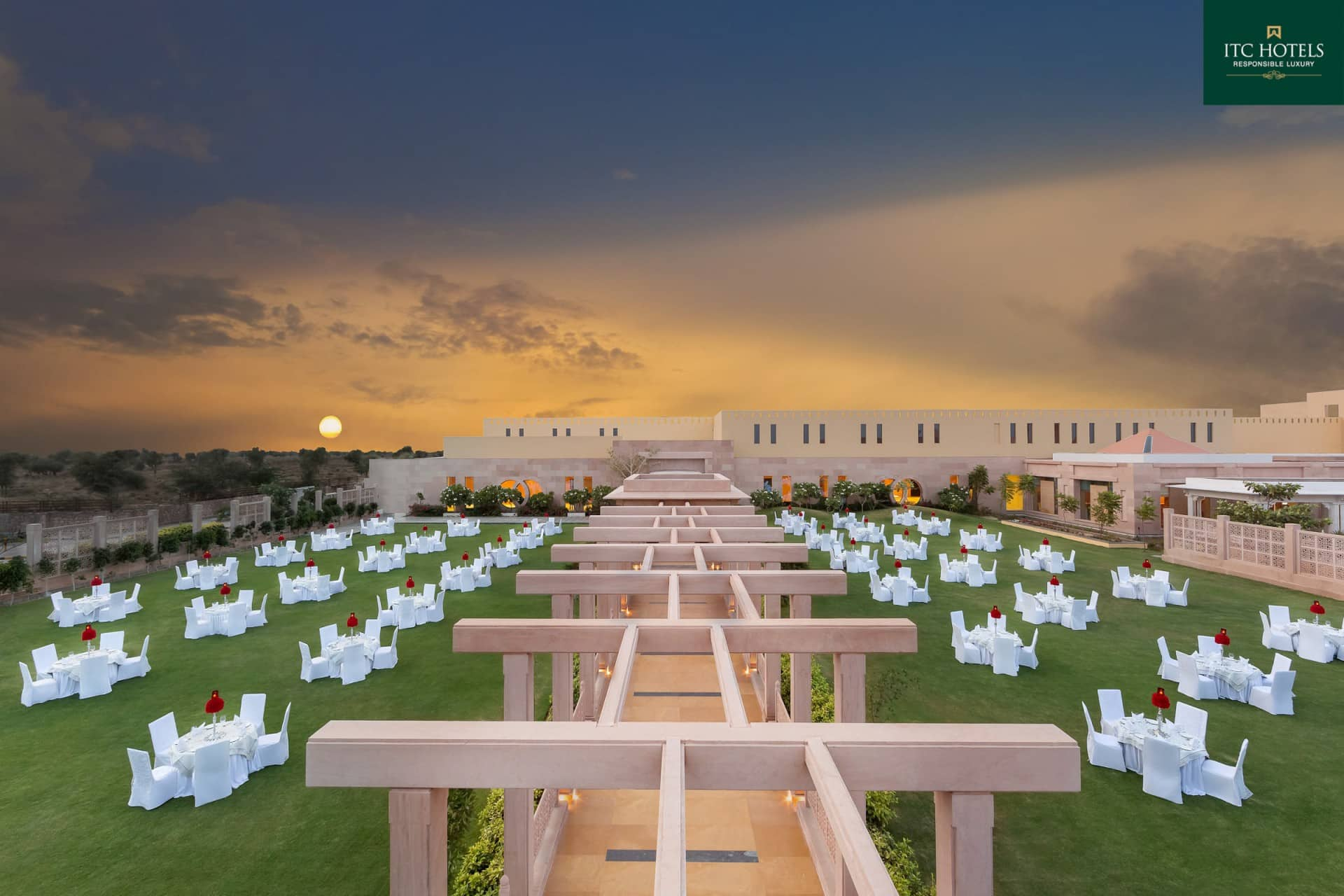 Best Architecture Photographer Jodhpur India   ITC Hotel Facade Banquet Setup Photography India