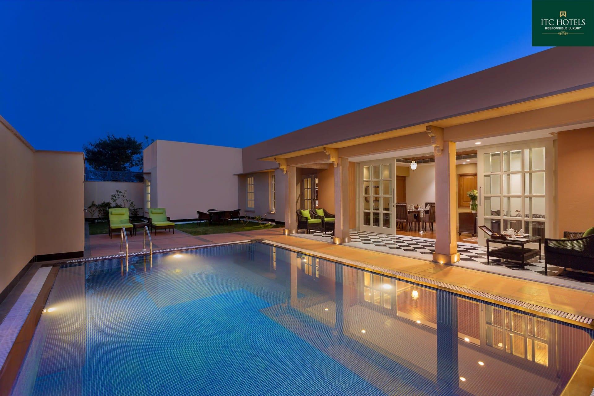 Best Architecture Photographer Jodhpur   ITC Hotel Swimming Pool Photography India