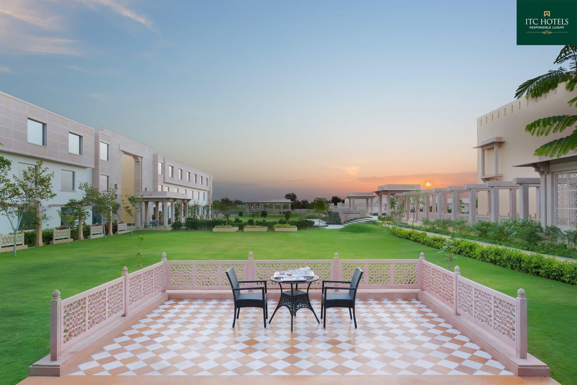 Best Architecture Photographer Jodhpur India   ITC Hotel Welcome Tea Setup Photography India
